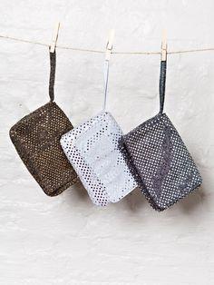 Metallic Sparkle Clutch Bag | Bees and Buttercups Handmade Gift Shop / Panama City Florida