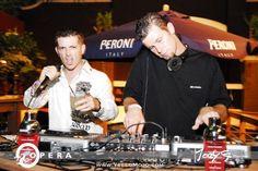 MC Word and DJ Fonix back in the day mixing at Opera nightclub.