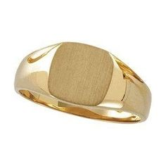 Mens 14k gold engravable pinky ring