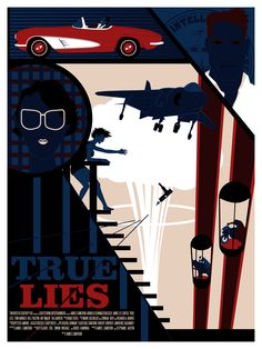 True Lies Poster sold by Coin Op Print Shop. Shop more products from Coin Op Print Shop on Storenvy, the home of independent small businesses all over the world. True Lies Movie, Best Movie Posters, Logo Design, Graphic Design, Alternative Movie Posters, Movies To Watch, Pop Culture, Giclee Print, Cinema