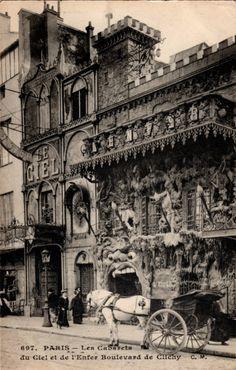 The Cabaret le Ciel and Cabaret de l'Enfer in Paris, circa 1900.