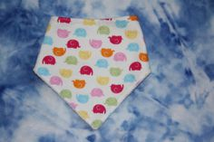 Cute elephants Bandana dribble bib drool bib UK seller by SewBitsy, £4.00