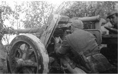 7.5cm Pak 40 gun on the Eastern Front.