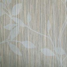Diseño con motivos tipo vegetal beige y blanco en este papel pintado de la colección Windsor XII de Parati.