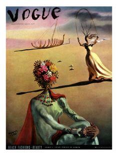 Vogue Cover - June 1939 Premium Giclee Print by Salvador Dali at Art.com
