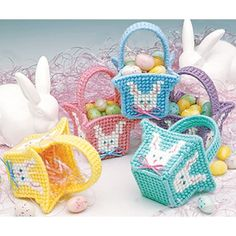 Mini Easter Baskets Plastic Canvas Pattern ePattern