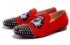Mocassin louboutin homme Harvanana Veau Velours spikes rouge 5 http://www.twinoy.com/image/cache/data/mocassin/Mocassin-louboutin-homme-Harvanana-Veau-Velours-spikes-rouge-5-1-218x218.jpg
