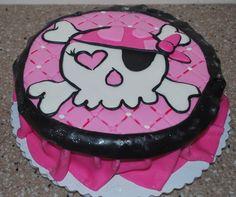 Pirate Girl Birthday Cake