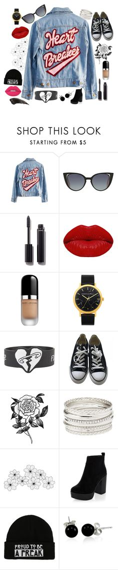 """""""Heart Breaker"""" by angelstylee ❤ liked on Polyvore featuring High Heels Suicide, Fendi, Chanel, Winky Lux, Marc Jacobs, Converse, Forever 21, Charlotte Russe, WALL and New Look"""