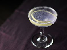 Aviation Cocktail - Gin, creme de violette, lemon juice & Luxardo maraschino liqueur  <3