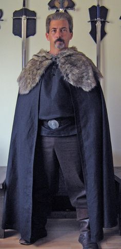 Medieval Celtic Viking Game of Thrones Style Cape Cloak. $129.99, via Etsy.