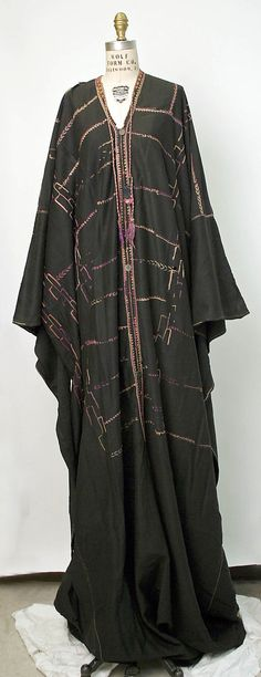 Dresses Pagan Wicca Witch:  Middle Eastern #Dress (Bedouin Peoples), 1800 - 1939. Cotton.