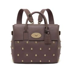 6b31b732c214 Cara Delevingne Bag With Lion Rivets in Taupe Silky Classic Calf