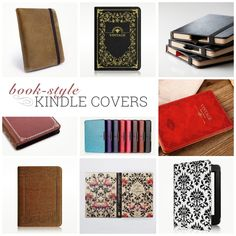 Most beautiful book-style Kindle, Kindle Paperwhite, and Kindle Voyage covers. From Fintie, Etsy, Tuff-Luv, and Pad & Quill, among others.