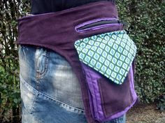 Bekijk dit items in mijn Etsy shop https://www.etsy.com/listing/226930284/one-sided-purple-hip-bag-with-lots-of