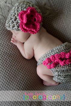 Newborn beanie & diaper cover