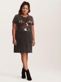 0bea946f46 Torrid Insider Def Leppard Graphic T-Shirt Dress