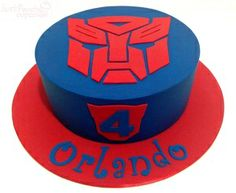 Transformers theme cake