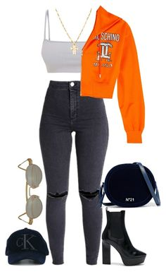 """578"" by dkleaa ❤ liked on Polyvore featuring Calvin Klein Jeans, Kansai Yamamoto, Yves Saint Laurent, N°21 and Moschino"