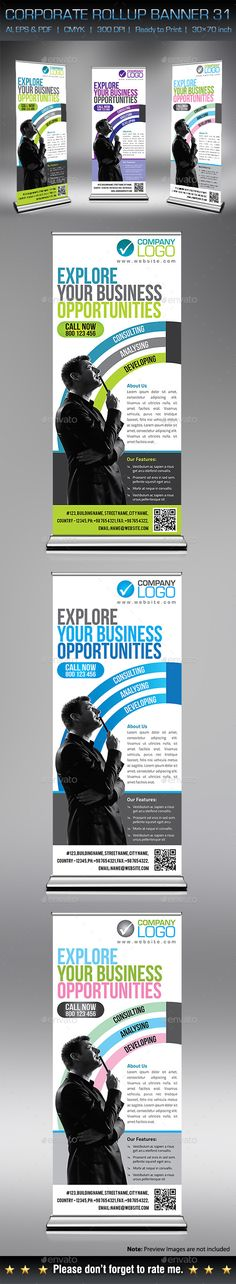 Corporate Business Rollup Banner Template #design Download: http://graphicriver.net/item/corporate-business-rollup-banner-31/12903975?ref=ksioks