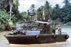 Patrol Boat, River or PBR, is the United States Navy designation for a small rigid-hulled patrol boat used in the Vietnam War from March 1966 until the end o. Mekong Delta Vietnam, North Vietnam, Vietnam History, Vietnam War Photos, Brown Water Navy, Pt Boat, Military Special Forces, Us Navy Ships, American War