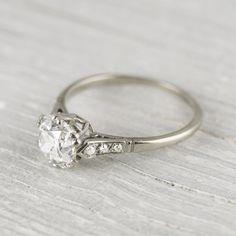 1.50 Carat Cushion Cut Vintage Diamond Engagement Ring | Erstwhile Jewelry Co.