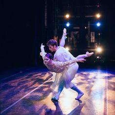 Dive in.  •  March 2016, Romeo & Juliet Pas de Deux as performed by Kathryn Morgan & Sean Rollofson. Kennedy Center. As captured by @lenscapkid.   #divein #mondayvibe #balletinthecity #yourcityandbeyond #kennedycenter #romeoandjuliet #pasdedeux
