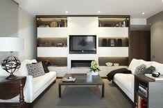 Molins Interiors // arquitectura interior - interiorismo - decoración - salón - sofá - mobiliario - librería - mesa de centro - chimenea