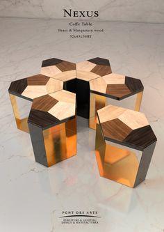 Nexus Coffee table - Designer MONZER Hammoud - Pont des Arts Studio - Paris
