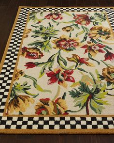 Rug hand hooked of New Zealand wool. Size is approximate. Imported.