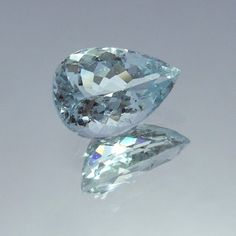 9x12.5 MM 3.3 Carat VS Light Color Natural Aquamarine Pear Shape Faceted Stone #NAAZGEMS