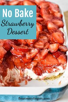 Cold Desserts, Sweet Desserts, Desserts With No Sugar, Easy Desserts To Make, Easy Delicious Desserts, Yummy Food, Best Easy Dessert Recipes, Easy Strawberry Desserts, Strawberry Trifle