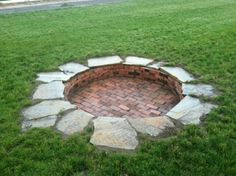 "360 bricks. 12 large slate. 12"" deep and 7' diameter. Huge bon fire pit"
