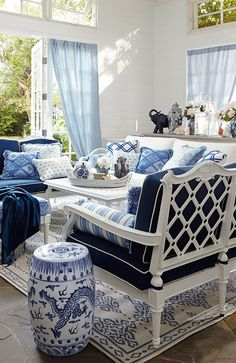 Spring into Blue: The Season's Hottest, Coolest Hue. Click for more on this trend... | Frontgate Blog