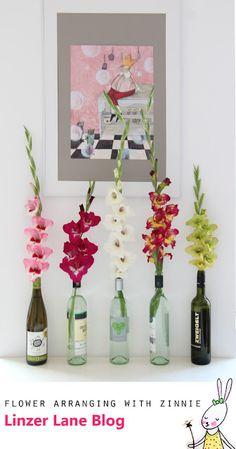 Flower Arranging DIY   Easy Gladiola Display Tip   Linzer Lane Blog