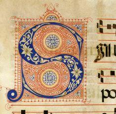 Iniziale S autore: Calligrafo fiorentino (bottega del Torelli?) tecnica: inchiostro e penna