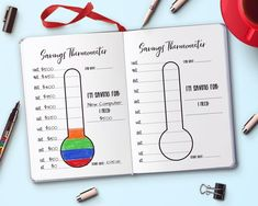 Sparthermometer druckbar bullet journal sparthermometer tracker mary bullet druckbar journal mary sparthermometer tracker bullet journal health and fitness planner printable bundle weight loss tracker workout planner exercise planner bujo fitness tracker Bullet Journal Lists, Bullet Journal Tracker, Bullet Journal Notebook, Bullet Journal Layout, Bullet Journal Inspiration, Goal Journal, Bullet Journal Ideas How To Start A, Bullet Journal Without Dots, Journal Ideas For Teens