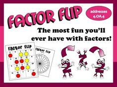 Factor Flip prime & composite game