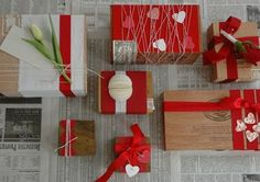 valentines day gift wrap #diy