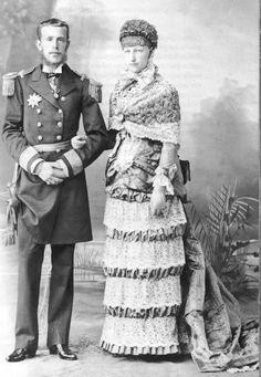 Rudolf von Habsburg, Crown Prince of Austria-Hungary with Belgian wife Stephanie Kaiser Franz Josef, Franz Josef I, Austria, Adele, Royal Monarchy, 1880s Fashion, Bustle Dress, Princess Stephanie, Lady And Gentlemen