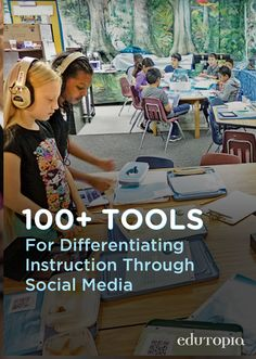 Social media can enhance differentiated instruction if the tools are select Differentiated Instruction Strategies, Instructional Strategies, Teaching Strategies, Teaching Resources, Teaching Ideas, Education Quotes For Teachers, New Teachers, Education College, Special Education