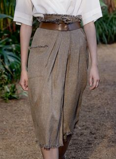 easy wrapped style skirt (or pants?) - love the raw, fringed edges
