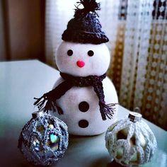 I can build a snowman without snow ❄ ⛄ #christmas #diy #handmade #christmasornaments #decoration #holidayseason #christmasspirit #crafts