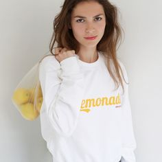 "Sweat-shirt blanc ""Lemonade"""