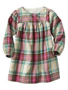 Plaid dress-Super cute for my little Gap baby!!