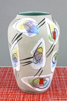 Bay Keramik 'Delhi' vase   Bodo Mans    1950s