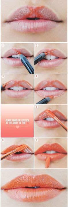 how to apply bright lipstick