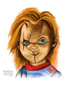 Chucky #childsplay #muñecodiabolico #chucky #sketchbook #ipadmini2 #ilustration #ilustracion #drawingfinger #dibujoconeldedo #drawing