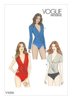 Buy Vogue Women's Bodysuit Sewing Pattern, from our Sewing Patterns range at John Lewis & Partners. Vogue Patterns, Sweat Shirt, Sewing Clothes, Diy Clothes, Patron Simplicity, Simplicity Patterns, Patron Butterick, Blouse Ample, Dress Making Patterns