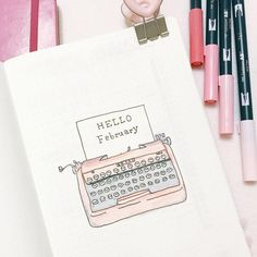 This's my cover page for February. Just for reminding, you'll see lots of pink spreads from my post this month #bujo #bulletjournal…